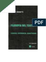 Dubatti Filosofc3aca Del Teatro 1