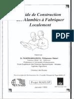 Guide de Construction Des Alambics à Fabriquer