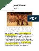 El Mecanismo Del Odio_alejandro Grimson