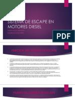 Sistema de Escape en Motores Diesel