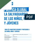 Política Global. La Salvaguardia de Los Niños, Niñas y Jóvenes