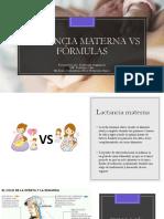 Lactancia vs Formulas