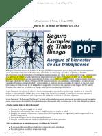 » EL Seguro Complementario de Trabajo de Riesgo (SCTR)