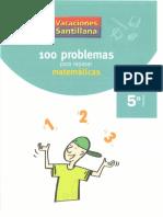 5º Mates - 100 Problemas Para Repasar Matematicas