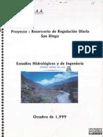 Estudios gidrologicos y de ingenieria del reservorio de regulacion diaria San Diego - Cañon del Pato