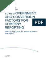 DEFRA 2018 Methodology Paper