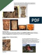 Esculturas Piramides Mayas
