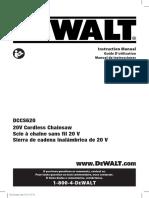 Dewalt Chainsaw DCCS620