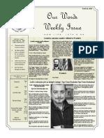 Newsletter Volume 10 Issue 29
