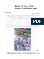 16.4  Removal of the DD15 and DD16 Sonceboz® Exhaust Gas Recirculation Valve Actuator