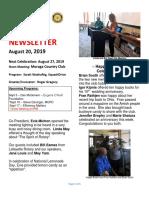 Moraga Rotary Newsletter August 20 2019