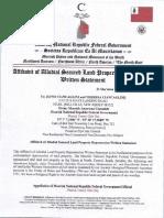 MACN-R000000438_Affidavit of Allodial Secured Land Property Repossession Written Statement [Ex Rel 5075 PIACENZIA AVE VINELAND NEW JERSEY]