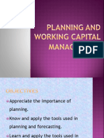 Planning and Working Capital
