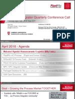 APR 2018 Process Integrator Quarterly Call