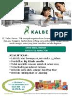 Oprec Pt Kalbe Farma 2018