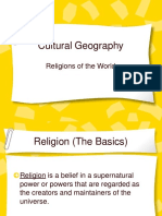 Geography of the world religion