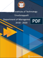 NITT MBA Placement Brochure 2020