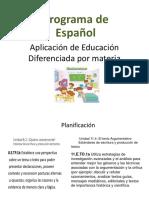 Aplicación de Educación Diferenciada Por Materia - Español