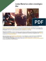 Marvel en Orden Cronológico