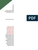 Chronolgical Order CASE STUDY