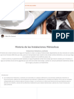 Historia de las Instalaciones Hidráulicas | Sutori /Maria Fer Cantoral