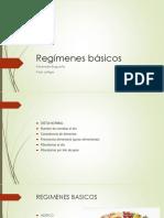 Regímenes básicos