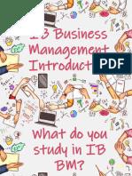 BM Course Introduction