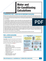 Motor and Air-Conditioning Calculations