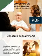 El concepto de Matrimonio
