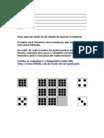 Teste de Qi Rápido Para Imprimir