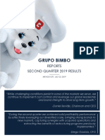 Grupo Bimbo Reports 2Q19 Results