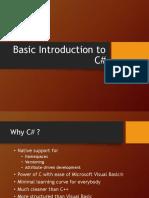 Basic Introduction to C#