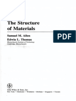 ALLEN, S.M. & THOMAS, E.L. the Structure of Materials