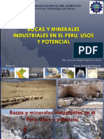 Clase 15 Rocas y Minerales Industriales Del Peru
