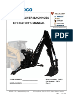 Backhoe Owners Manual