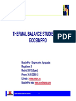 1 1 Thermal Balance Studies