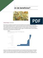Una Recesion de Beneficios
