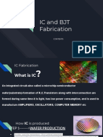 IC and BJT Fabrication