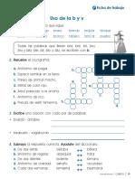 2018 Com2p u6 Ficha Ortografia Uso de La b y V