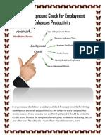 How Background Check for Employment Enhances Productivity