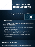 Social Groups and Group Interactions