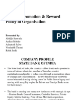 Study of Promotion & Reward Policy of Organisation