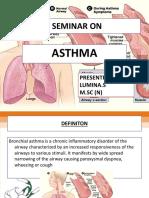 Seminar on Asthma