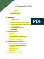 SAP QM Course Syllabus