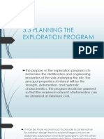 3.3 Planning the Exploration Program