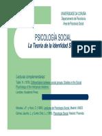 PSICOLOGÍA SOCIAL. La Teoría de la Identidad Social.pdf