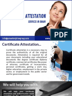 Complete Certificate Attestation Services In Oman!