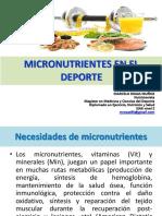 Micronutrientes en el  deporte