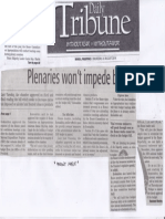 Daily Tribune, Aug. 22, 2019, Plenaries wont impede budget.pdf