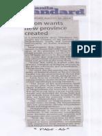 Manila Standard, Aug. 22, 2019, Solon wants new province created.pdf